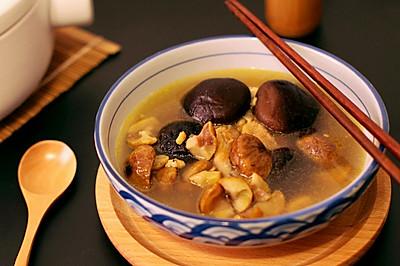 栗子香菇炖鸡汤