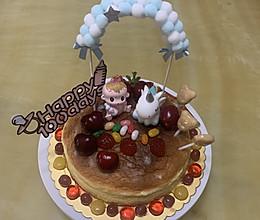 简单装饰的宝宝百天轻乳酪芝士蛋糕的做法