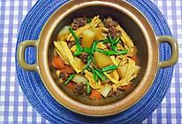 好吃到舔盘的粤式支竹萝卜牛腩煲的做法