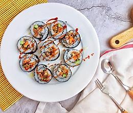 #爽口凉菜,开胃一夏!#肉松寿司卷的做法
