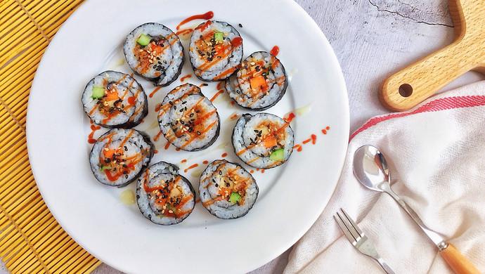 #爽口凉菜,开胃一夏!#肉松寿司卷