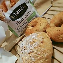 #Niamh一步搞定懒人面包#燕麦面包和贝果们