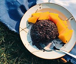 不负春光,下午茶选择~人气芒果黑糯米的做法