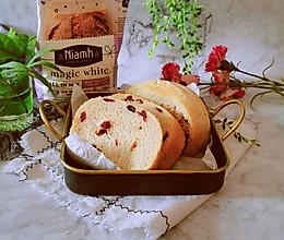 #Niamh一步搞定懒人面包#尼娅芙蔓越莓魔法白面包的做法