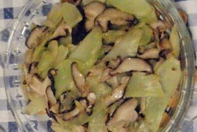 香菇炒莴笋