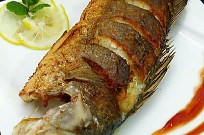香煎柠汁海鲈鱼#美极鲜味汁#