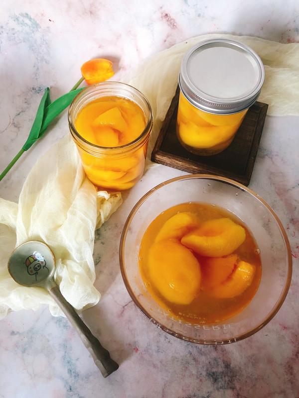 冰镇黄桃罐头的做法