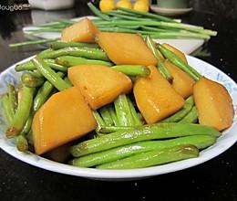 四季豆烧土豆的做法