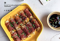 香烤孜然培根金针菇卷的做法