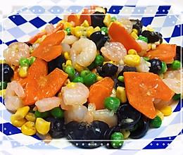 青豆虾仁玉米粒的做法