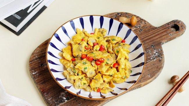 中秋鲜味|5分钟快手菜,鲜香无比的蛤蜊肉滑蛋的做法