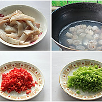 蚝油鱿鱼花 的做法图解1