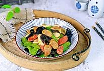 #我们约饭吧#香肠木耳炒荷兰豆的做法