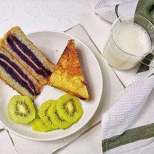 芝士紫薯西多士