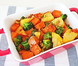 西蓝花土豆胡萝卜的做法