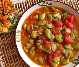 清热解毒又抗病毒的西红柿炖丝瓜#助力高考营养餐#的做法