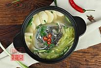 白菜豆腐鱼头汤的做法