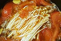 番茄金针肥牛煲的做法