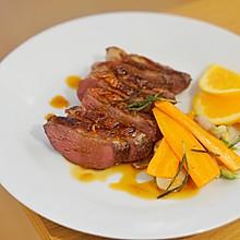家庭法式料理 | 香料鸭胸肉, 酸甜香橙酱汁,简易法餐轻松做