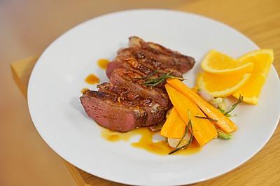 家庭法式料理   香料鸭胸肉, 酸甜香橙酱汁,简易法餐轻松做