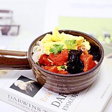#花10分钟,做一道菜!#西红柿木耳鸡蛋打卤面
