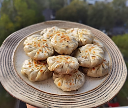 十分钟快手早餐——饺子皮干菜饼的做法