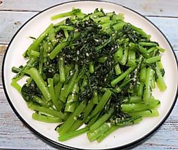 #餐桌上的春日限定#芝麻茼蒿,营养低脂又健康。的做法
