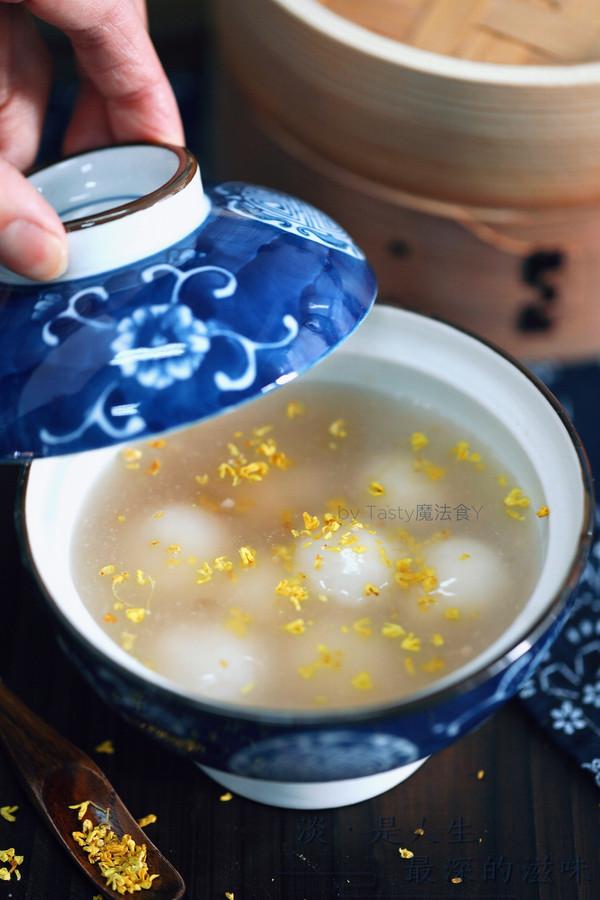 桂花藕粉圆子羹#花10分钟,做一道菜!#的做法