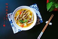 莜麦面鱼儿(附咖喱牛肉土豆卤)的做法