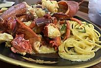 免烤箱芝士龙虾配意面的做法