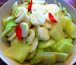 山药炒白菜的做法