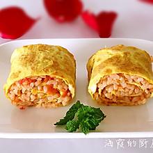 西红柿炒米饭鸡蛋卷#全民赛西红柿炒鸡蛋#
