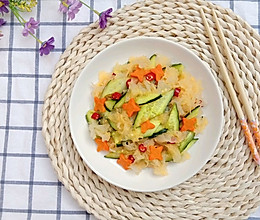银耳拌黄瓜的做法
