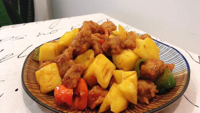 #餐桌上的春日限定#吃一次就忘不了,菠萝咕咾肉的做法
