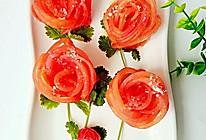 """玫瑰花番茄#在""""家""""打造ins风美食#的做法"""