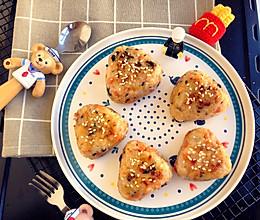 芝士夹心海苔肉松饭团的做法