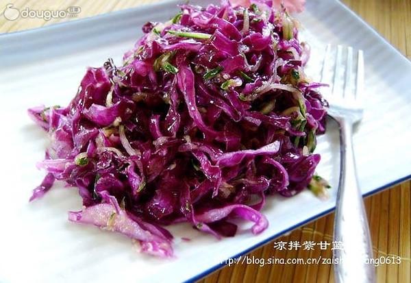 紫色的诱惑------凉拌紫甘蓝的做法