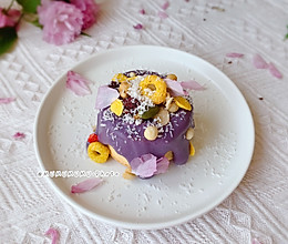 #我们约饭吧#紫薯熔岩蛋糕的做法