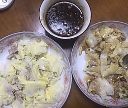 家庭版鸡蛋肉沫肠粉的做法