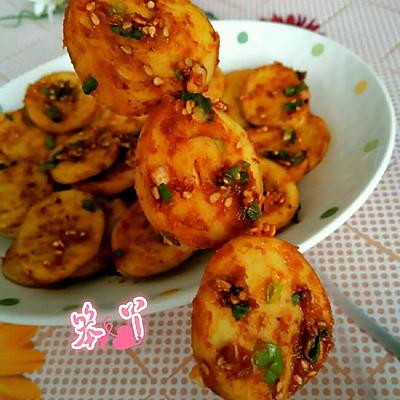 利仁电饼铛试用之香辣煎豆腐卷的做法 步骤5