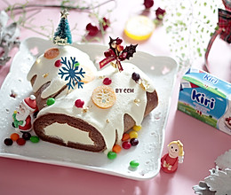 圣诞白雪覆盖毛巾卷----附自制蛋糕卷不易开裂的小技巧!的做法