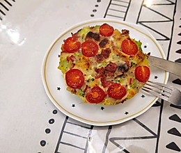 培根口蘑番茄烘蛋的做法