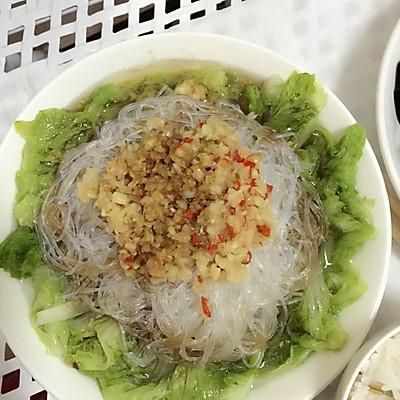 清蒸蒜蓉粉絲大白菜