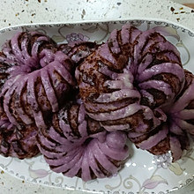 紫薯豆沙卷