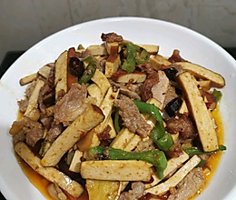 香干炒肉片的做法