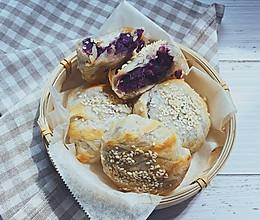 #换着花样吃早餐#紫薯酥的做法