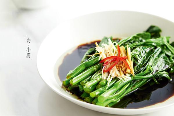 白灼芥蓝 | 刮肠菜的做法