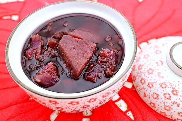 红豆紫薯糖水的做法