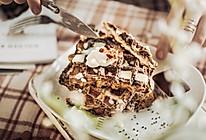 黑芝麻花生吐司版华夫饼的做法