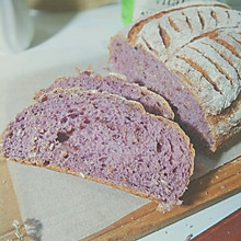 紫薯燕麦欧包#Niamh一步搞定懒人面包#